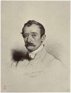 Robert Jefferson Bingham | Fotoreproductie van tekening door Paul Delaroche: portrait de M. Horace Vernet, Robert Jefferson Bingham, Goupil & Cie, 1858 |