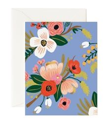 Lively Floral Periwinkle card designed by Anna Bond for Rifle Paper Co. now at Northlight Homestore