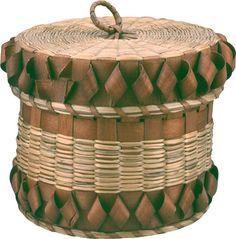 Mi'kmaq (Micmac) Basket. Before 1911. Ash splints and Sweet Grass.