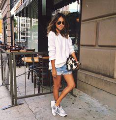 Julie Sarinana Street Style Moletom Shorts