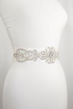 Swarovski Crystal Bridal Belt Sash by GlamHouse on Etsy