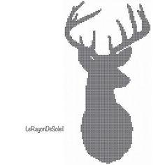 Modern Cross stitch pattern deer head to the by LeRayonDeSoleil