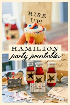 12th Birthday, First Birthday Parties, Birthday Party Themes, 30th Party, Birthday Ideas, Alexander Hamilton Birthday, Broadway Theme, Patriotic Party, Patriotic Crafts