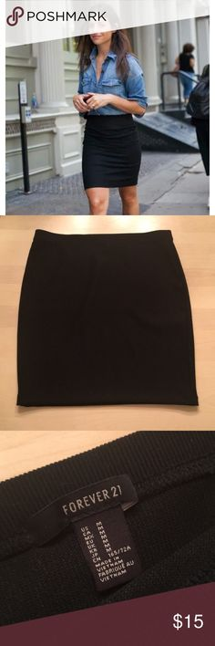 Black pencil skirt Super cute black pencil skirt. Never been worn and in perfect condition! Not from free people, but tagged for publicity. Free People Skirts Pencil