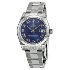 9f727e4726c Rolex Datejust Lady 31 Blue Roman Dial Oyster Bracelet Ladies Watch  178240BLRO Rolex Women