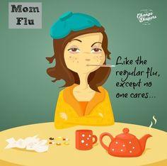 Mom flu humor meme