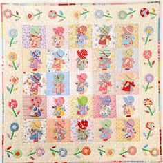 Sunbonnet Sue Quilt **Tapestry** Patchwork Japanese Quilt Fabric Textile COTTON CRAFT Pooh-tan