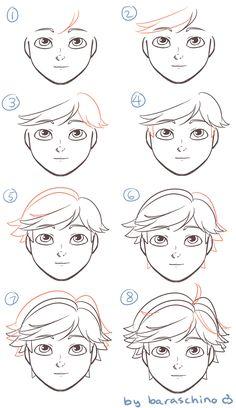 How to draw Adrien Agreste