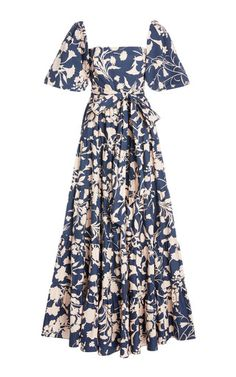 Get inspired and discover Cara Cara trunkshow! Shop the latest Cara Cara collection at Moda Operandi. Gowns With Sleeves, Midi Dress With Sleeves, Satin Dresses, Poplin, Vintage Dresses, Cotton, Outfits, Clothes, Style