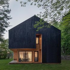 undefined Chalet Design, Cabin Design, Lakeside Cabin, Fireplace Set, Wood Steps, Charred Wood, Languedoc Roussillon, Beaux Villages, Of Montreal