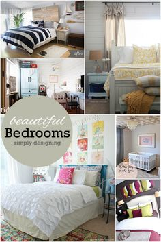 Beautiful Bedrooms: Inspiration for every style!  Featured on Simply Designing