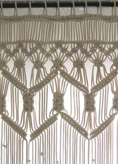 Bohemian Macrame Curtains Doorway Curtain Boho by KnotSquared