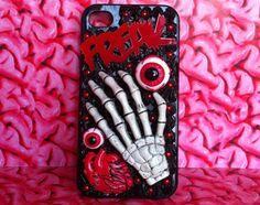 Freak horror decoden Iphone 4/4S case by BrainzAddicts on Etsy, $39.00