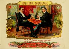 Public domain image of a vintage cigar label.
