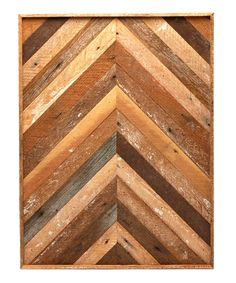 Look at this Rectangle Chevron Reclaimed Wood Wall Art on #zulily today!