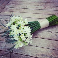 Paperwhite narcissi bouquet Foxgloves and Roses