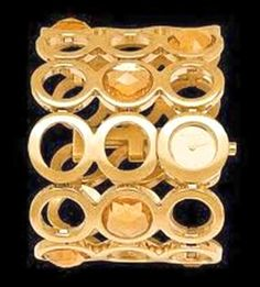 Brand Roccobarocco Watch for Women Steel yellow gold plated List Price € 255.00 Discounted price € 90.00