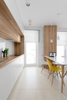Trend 2016 Hidden Disappearing Kitchen (15 pics) Superbcook.com white and timber kitchen. 081architects