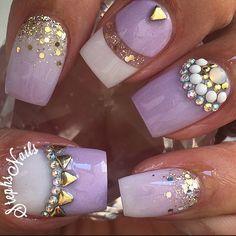 Stephanie Loesch @_stephsnails_ #lavender#whi...Instagram photo | Websta (Webstagram)