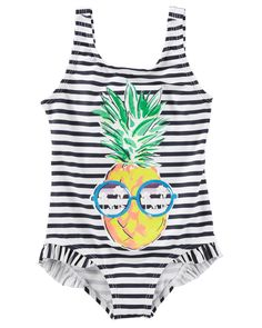 c90a92d78 Toddler Girl OshKosh Pineapple Swimsuit | OshKosh.com Toddler Girl Bathing  Suit, Girls Bathing