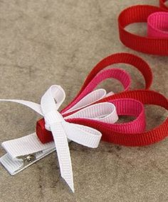 Valentine's Day Ribbon Heart Hair Clip | Valentine's Day Outfit Ideas for Kids