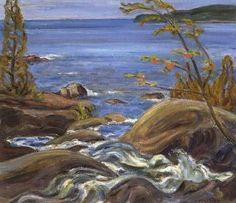 North shore, Lake Superior by Alexander Young Jackson in Fine Canadian Art on November 2001 at the null null sale null, lot 41 Group Of Seven Art, Group Of Seven Paintings, Canadian Painters, Canadian Artists, Tom Thomson Paintings, Emily Carr, Of Montreal, Fine Art Auctions, Soul Art