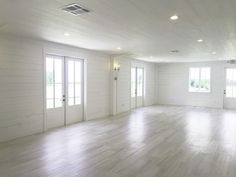 The Nest at Ruth Farms side interior rooms Dance Rooms, Fort Worth Wedding, Hall Design, White Barn, Barn Wedding Venue, White Walls, Room Interior, Dallas, Hardwood Floors