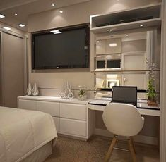41 modern bedroom design ideas you should already own 8 Tv In Bedroom, Home Decor Bedroom, Master Bedroom, Bedroom Ideas, Bedroom Shelves, Bedroom Quotes, Bedroom Signs, Interior Livingroom, Ladies Bedroom