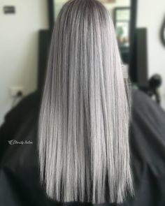 Obsessed with this Silver/Grey look from @claritybeauty using #luxurycolour & #NAKhair. #hairinspo #hairgoals #silverhair #TheNAKCollective