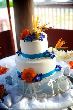 blue and orange wedding cake ideas 1000 images about wedding colors on flora 11949