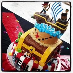 My sons Jake and the Neverland Pirate birthday cake!