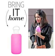 """Bring It Home: bkr Glass Water Bottle"" by polyvore-editorial ❤ liked on Polyvore featuring interior, interiors, interior design, ev, home decor, interior decorating, bkr ve bringithome"