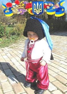 Tiny Cossack Ukrainian toddler SO CUTE!