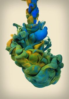 The Black Trap in Munich by Alberto Seveso, via Behance. It's photographing ink in water!