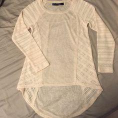 Francesca's Collection Long Sleeve Cream Long Sleeve Shirt. Great for the season. Brand: Blue Rain Size: Small Francesca's Collections Tops Tees - Long Sleeve