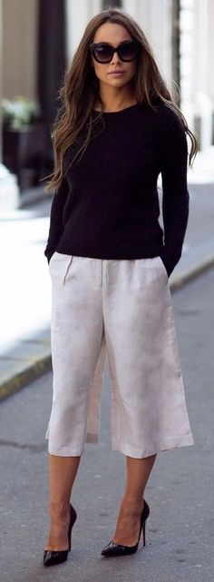 #streetstyle #fashion |Marble Culottes Street Style | Johanna Olsson