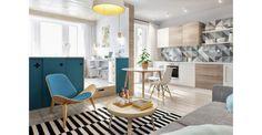 Thuis in een compacte studio met zonnig zithoekje