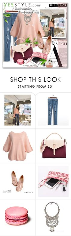 """YesStyle"" by astromeria ❤ liked on Polyvore featuring DaBaGirl, Secret Garden, Etude House, Beauty, knitwear and yesstyle"