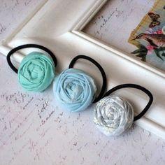 rosette ponytail holders