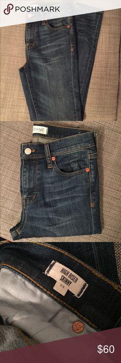 High riser skinny jeans size 25 Madewell high riser skinny jeans size 25. Only worn twice! Madewell Jeans Skinny