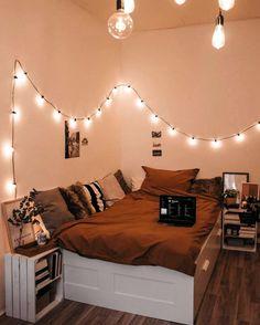 Room Decor Bedroom Cozy + Room Decor Bedroom – Five in Three Cute Bedroom Ideas, Room Ideas Bedroom, Teen Room Decor, Small Room Bedroom, Bedroom Goals, Bedroom Inspo, Bedroom Inspiration, Bedroom Furniture, Cozy Small Bedrooms