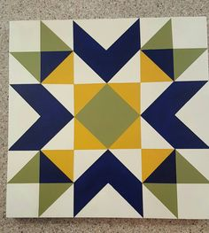 mini barn quilt greenbrier chevron star by WildflowerInTheWeeds