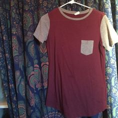 Maroon Baseball tee Pink Victoria secret, in second pic there is a dis colored spot but very unoticeable PINK Victoria's Secret Tops Tees - Short Sleeve