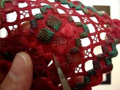 Hardanger Embroidery, Lesson 5, Finishing Kloster Block Section