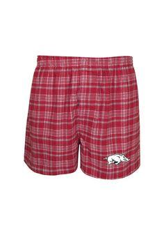 Arkansas Razorbacks Mens Boxer Shorts - Cardinal Arkansas Empire Boxers http://www.rallyhouse.com/shop/arkansas-razorbacks-arkansas-razorbacks-pajama-shorts-mens-red-empire-flannel-boxer-562299?utm_source=pinterest&utm_medium=social&utm_campaign=Pinterest-ArkansasRazorbacks $16.95