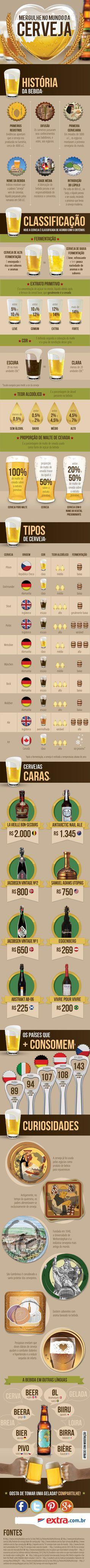 Infográfico sobre o Mundo da Cerveja