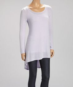 Another great find on #zulily! Lilac Semi-Sheer Hi-Low Dress #zulilyfinds