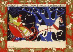 Joulukortti vuodelta 1930.