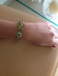 צמיד ירוק  צמיד אבני סברובסקי צמיד ערב צמיד לאישה תכשיטים ירוקים תכשיטי סברובסקי    ❤️passion   מרמלדה מרקט