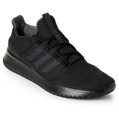 Adidas Black Neo Cloudfoam Ultimate Sneakers (3.945 RUB) ❤ liked on Polyvore featuring shoes, sneakers, black, adidas trainers, adidas shoes, kohl shoes, lace up sneakers and black shoes